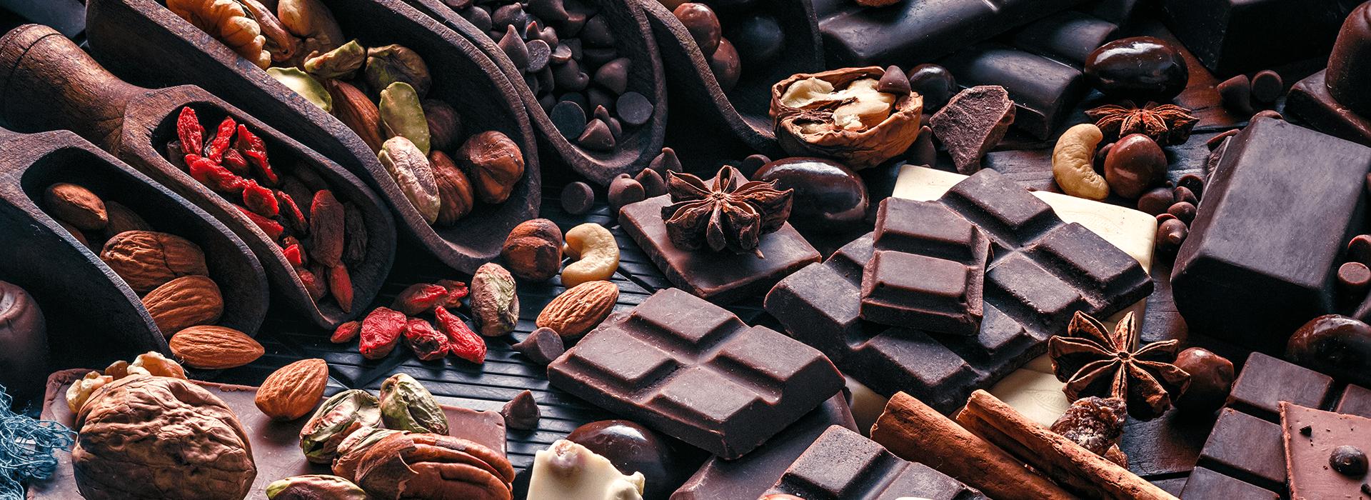 ingrédients et épices à chocolat